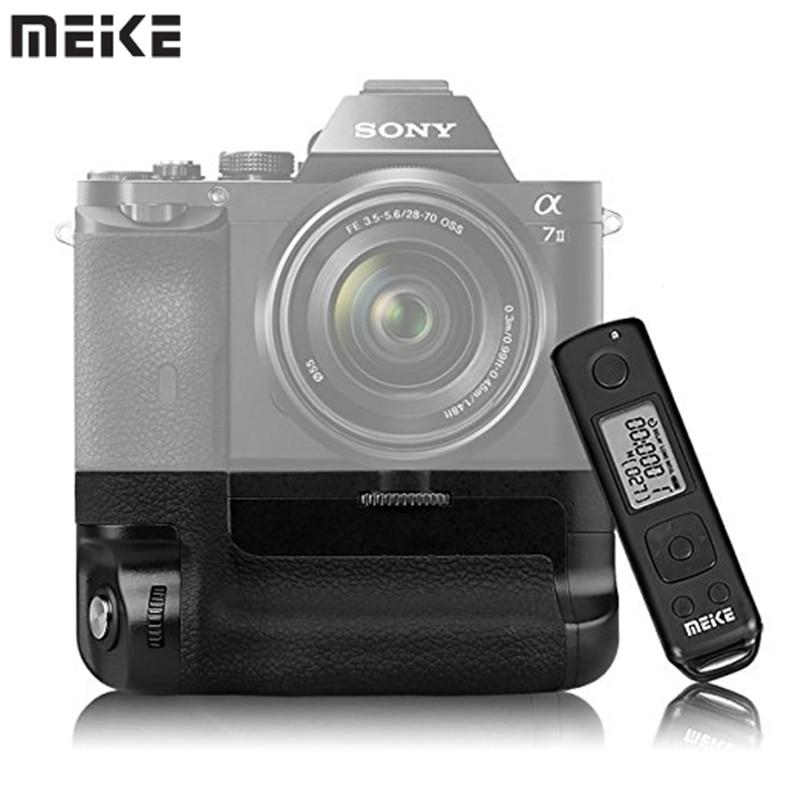 Meike MK-A7II Pro Built-in 2.4g Wireless Control Battery Grip for Sony A7 II A7II A7SII A7MII A7RII As Sony VG-C2EM цена и фото