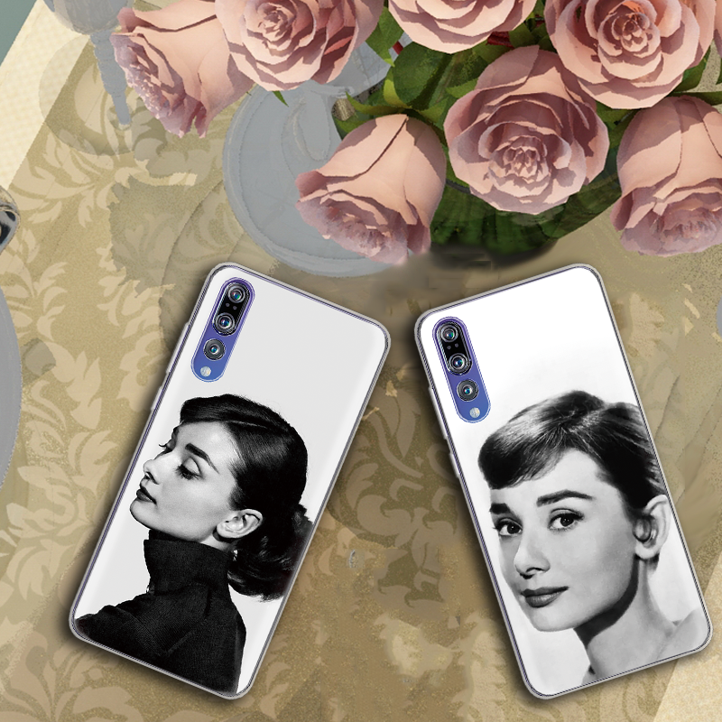 Audrey Hepburn Beautiful lady Coque For Huawei P20 Lite P8 P10 P30 P Smart 2017 2019 Mate 9 10 20 S Pro Cover Soft Silicone Case