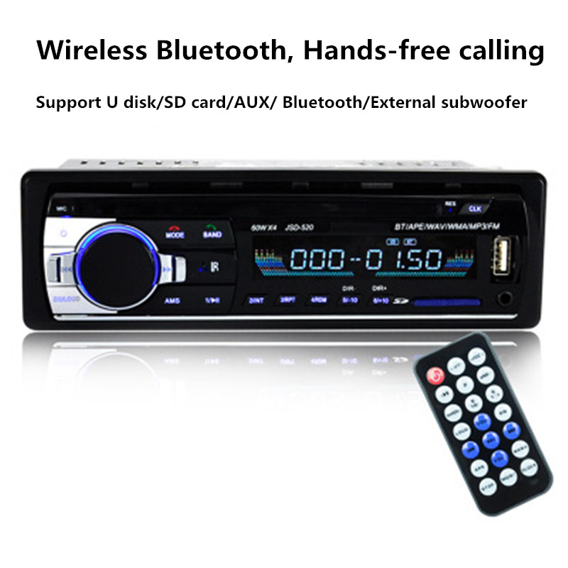 Handsfree Bluetooth Car Stereo FM Radio MP3 Audio Player 12V Charger USB SD AUX Auto Electronics Subwoofer 1 DIN Autoradio image