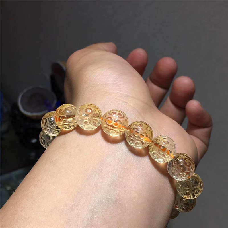 Natural Citrine Quartz Bracelet (6)