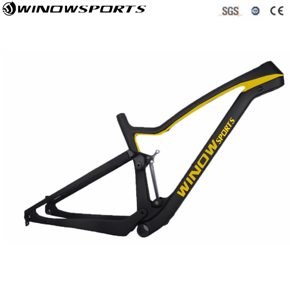 2018 Winow Carbon Fiber Frame New Desgin Mountain Bike XC 29er Full Suspension Chinese MTB Frameset track frame fixed gear frame bsa carbon 1 1 2to 1 1 8 bike frameset with fork seatpost road carbon frames fixed gear frameset