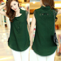 XXXL Spring Summer Plus Size Woman Chiffon Black Green Pink  Short Sleeve Blouses & Shirts , Womens Femininas Embroidery Blouse