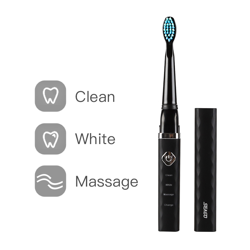 Seago Electric Toothbrush Sonic waterproof Portable USB Rechargeable Travel Brush Adult Electric Teeth White High Quality SG515 image