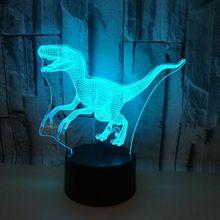 Импортные товары динозавр 3d лампа Красочный светодиодный визуальный подарок украшение атмосферу 3d маленький стол светодиодный ночник
