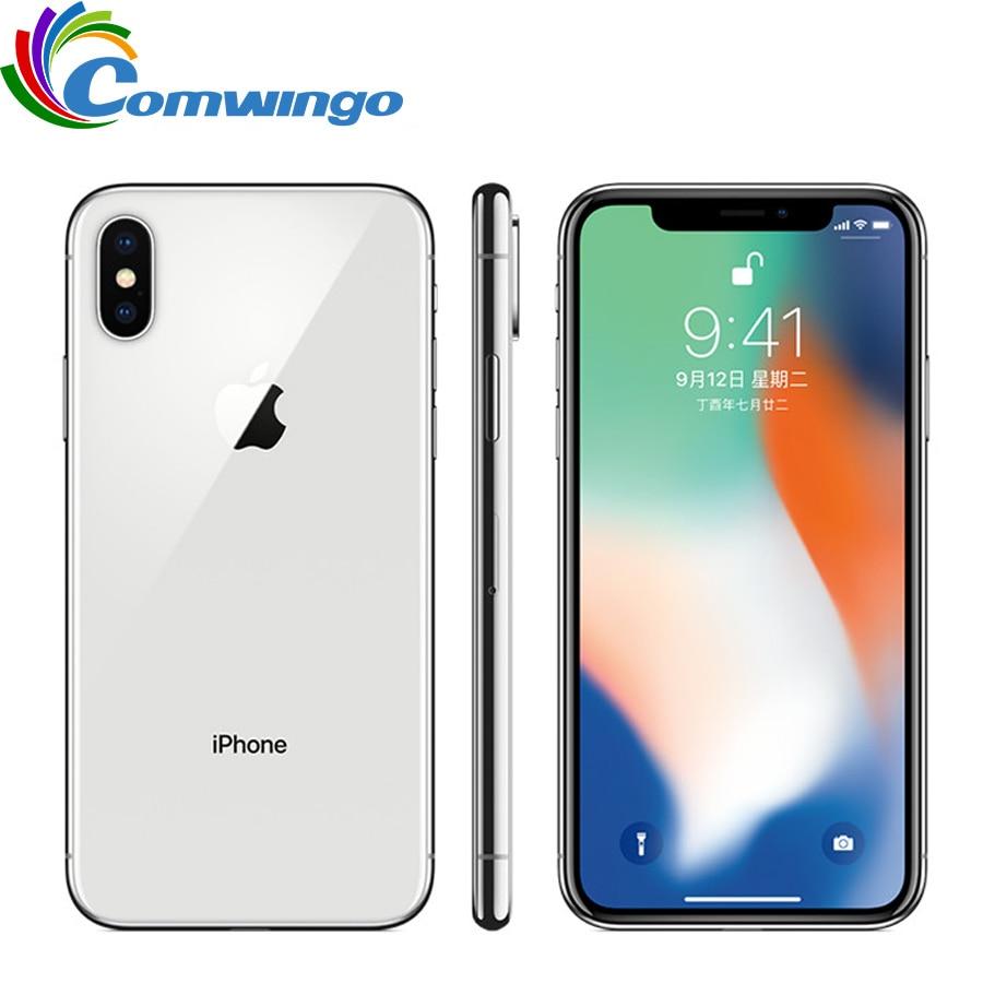 Orijinal Apple iPhone X yüz kimliği 64GB/256GB ROM 5.8 inç 3GB RAM 12MP Hexa çekirdek iOS A11 çift arka kamera 4G LTE kilidini iphone x