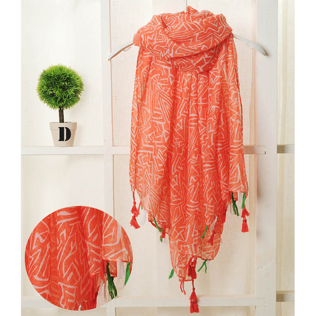 Bohemian Summer Tassel Scarf   Shawls and Wraps   Up to 60% Off Now