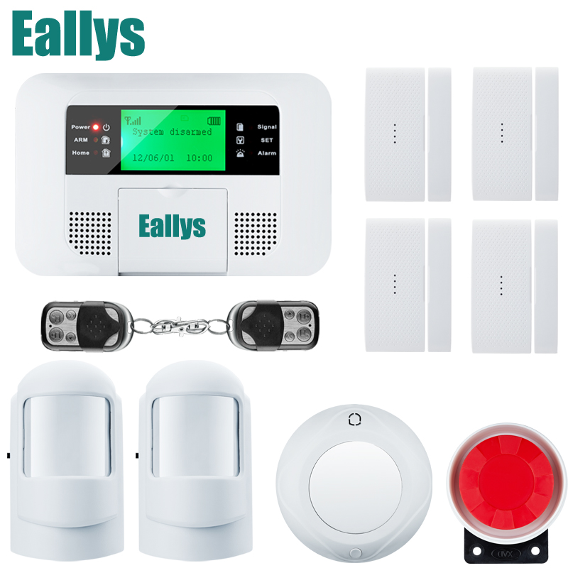 New arrived wholesale Wireless PSTN GSM Alarm System 433MHz Home Burglar Security Alarm System for your home security new 433mhz wireless door window sensor for gsm pstn home alarm system home security voice burglar smart alarm system