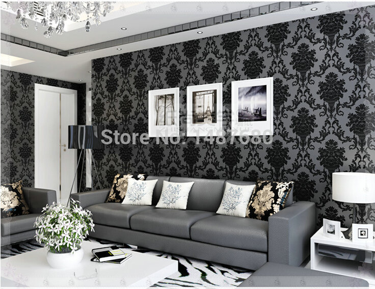 Damask Wall Paper Desktop Wallpaper Mural Imitation Non Woven Feature Roll For Living Room Bedroom Sofa In Wallpapers From Home