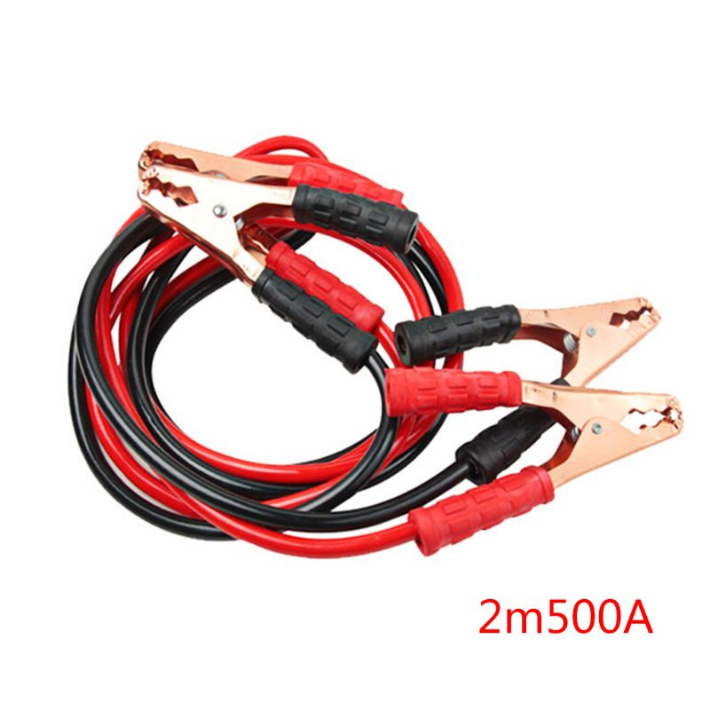 Heavy Duty 500AMP 2M Car Battery Jump Leads Cables Jumper Cable For Van Truck