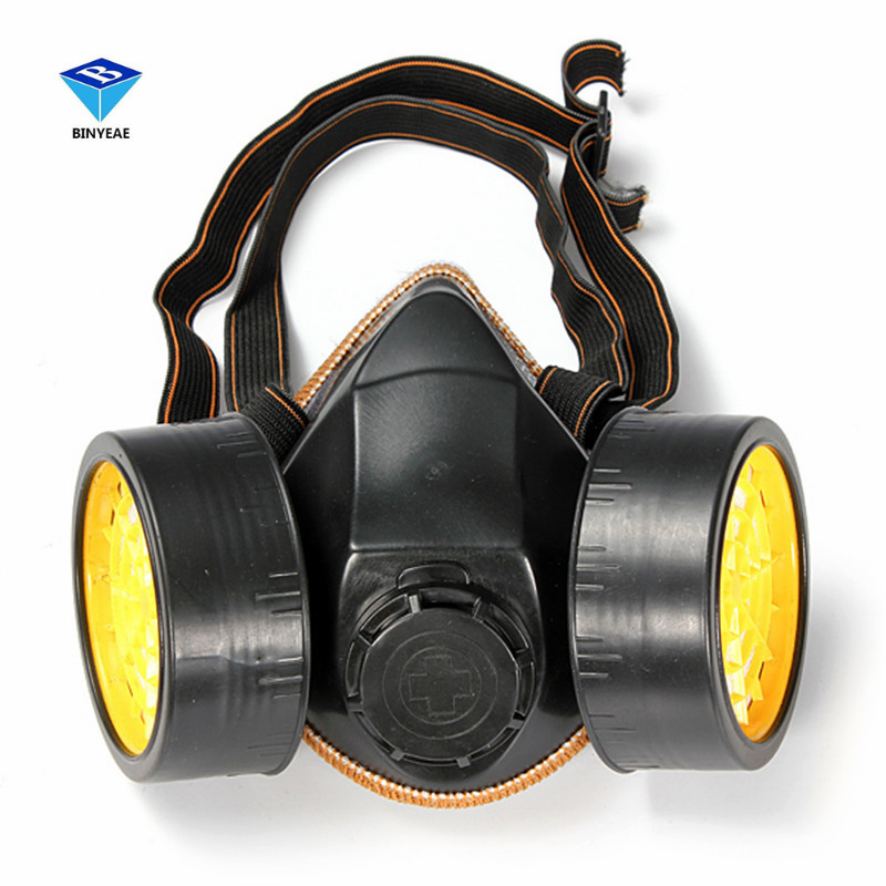 Safety Anti-Dust Spray Chemical Gas Dual Cartridge Respirator Paint Filter Mask High Quality PVC купить