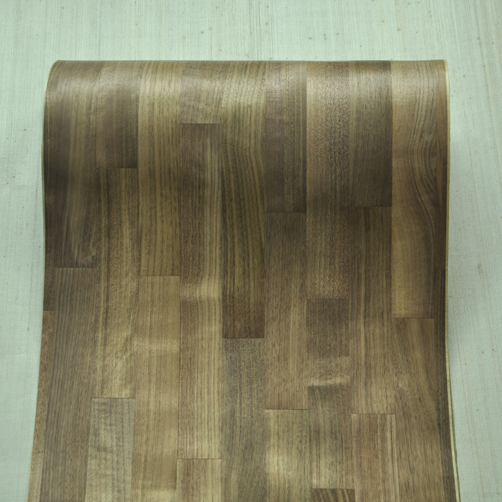 Natural Parquet Wood Veneer With Fleece Backer