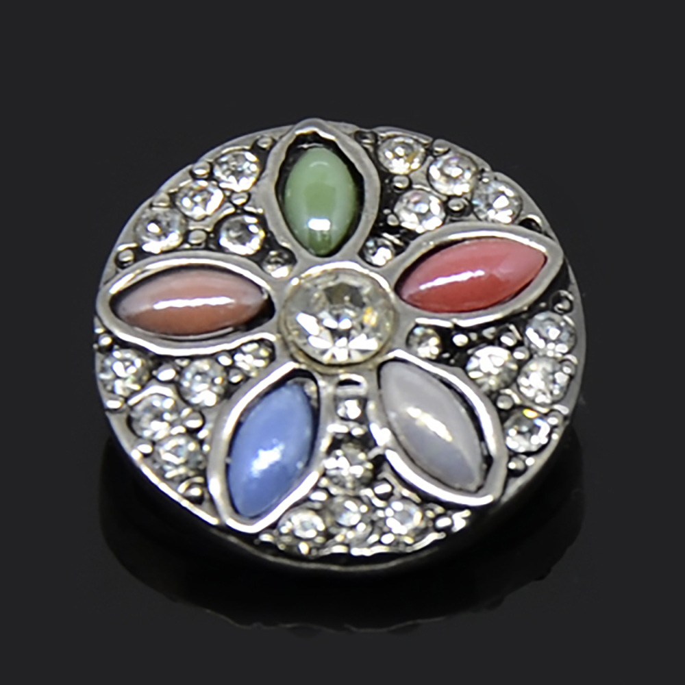 Colorful Crystal Alloy Button Beads For Girlfriend Gift Beautiful Design