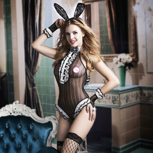 c59c11a7c New Sexy LIngerie Bunny Girl Suits Erotic Cute Sheer Mesh Rabbit Girl Party  Clubwear Role Play