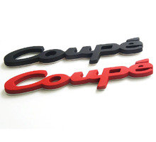 3D Metal Car-styling Auto Car Fender Tail Trunk COUPE Emblem Badge Decal Sticker for Audi BMW SAAB Accessories Coupe Logo