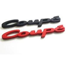 3D metalowy samochód stylizacji Auto błotnik samochodu ogon bagażnika COUPE znaczek z symbolem naklejka naklejka na audi BMW SAAB akcesoria Coupe Logo