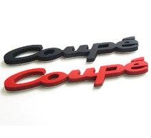 3d metal carro estilo do carro auto fender cauda tronco coupe emblema emblema adesivo decalque para audi bmw saab acessórios coupe logotipo