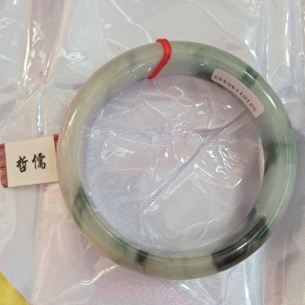 Gift A Certificate Natural Jadeite Bracelet Beautiful Dual-color 54-62mm Bracelet Jewelry GiftGift A Certificate Natural Jadeite Bracelet Beautiful Dual-color 54-62mm Bracelet Jewelry Gift