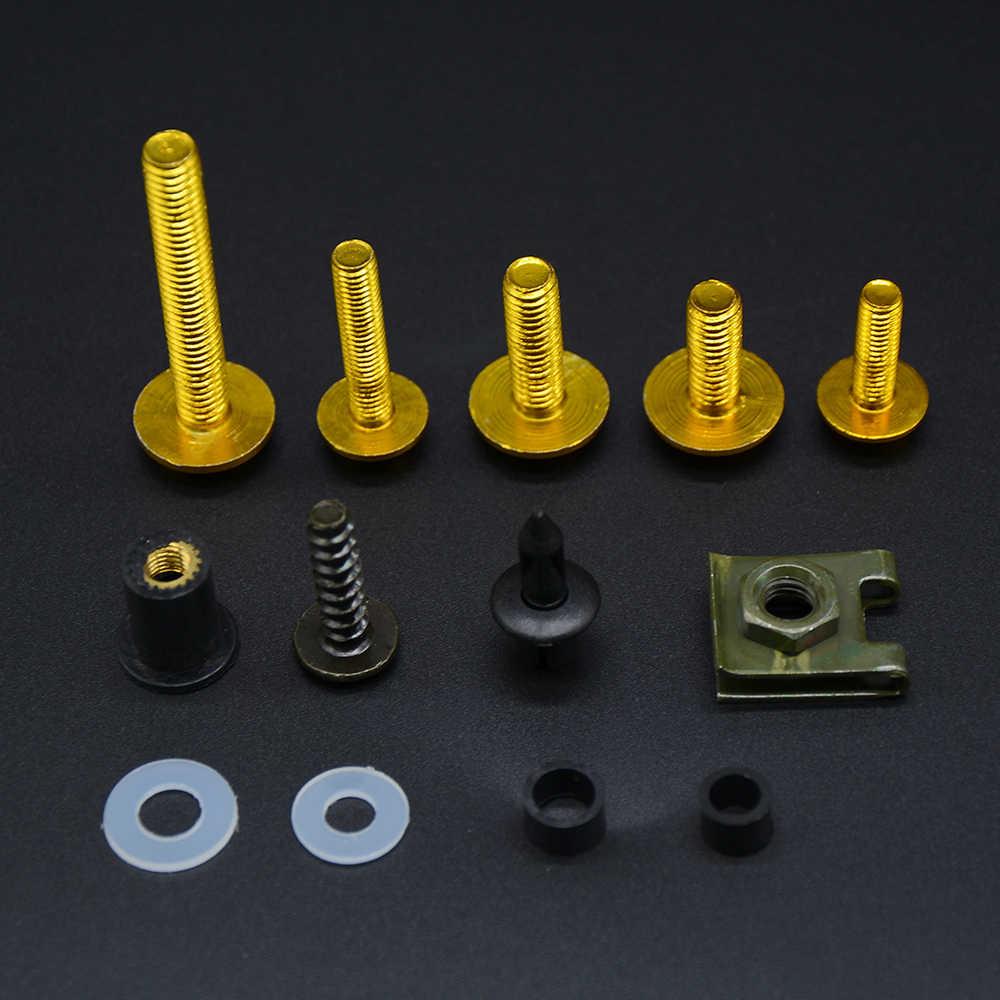 מלא Fairing בורג אגוז בורג ערכת עבור הונדה CBR600RR CBR 600 RR CBR 600RR 2007 2008 2009 2010 Fairing בורג אביזרי ברגים