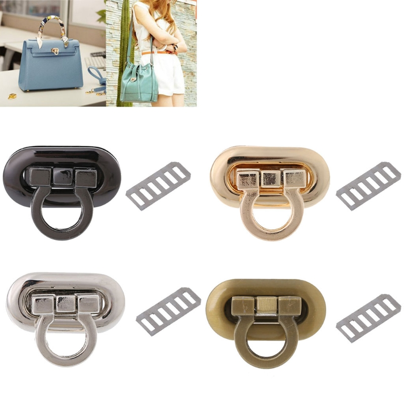 New Metal Clasp Turn Lock Twist Lock For DIY Handbag Craft Bag Purse Hardware