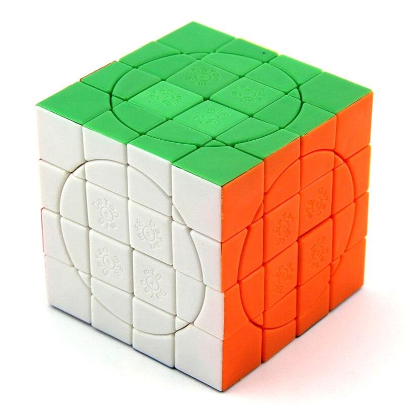 Néo Cube professionnel 4x4x4 6.6 CM vitesse pour Magico Cubes Antistress Puzzle Cubo Magico couleur pour enfants jouets éducatifs pour adultes