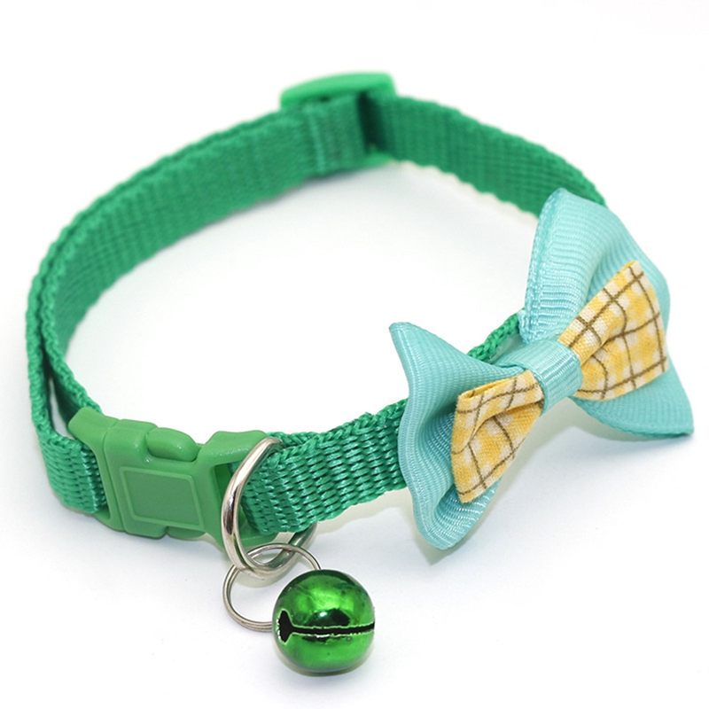 """1 шт., карамельный цвет, регулируемый галстук-бабочка, колокольчик, распродажа, ошейник """"галстук-бабочка"""", щенок, котенок, собака, кошка, домашнее животное, Прямая поставка - Цвет: GR2"""