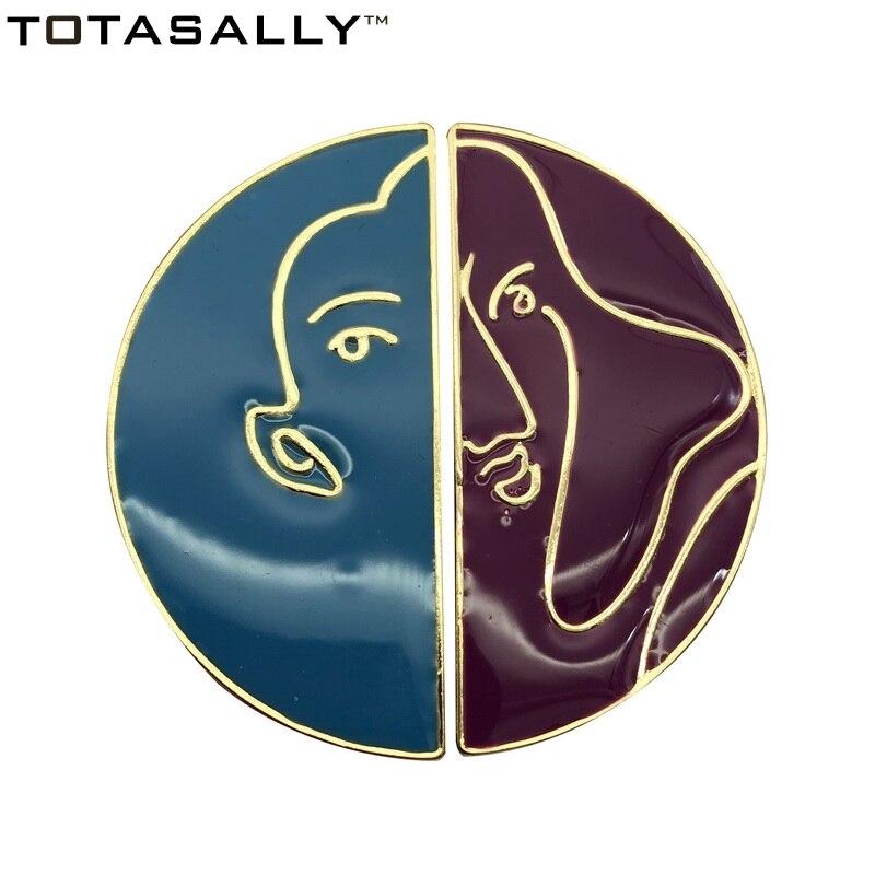 TOTASALLY Fashion Simple Geometric Designs enamel mismatched women stud Earrings Womens party show Jewelry