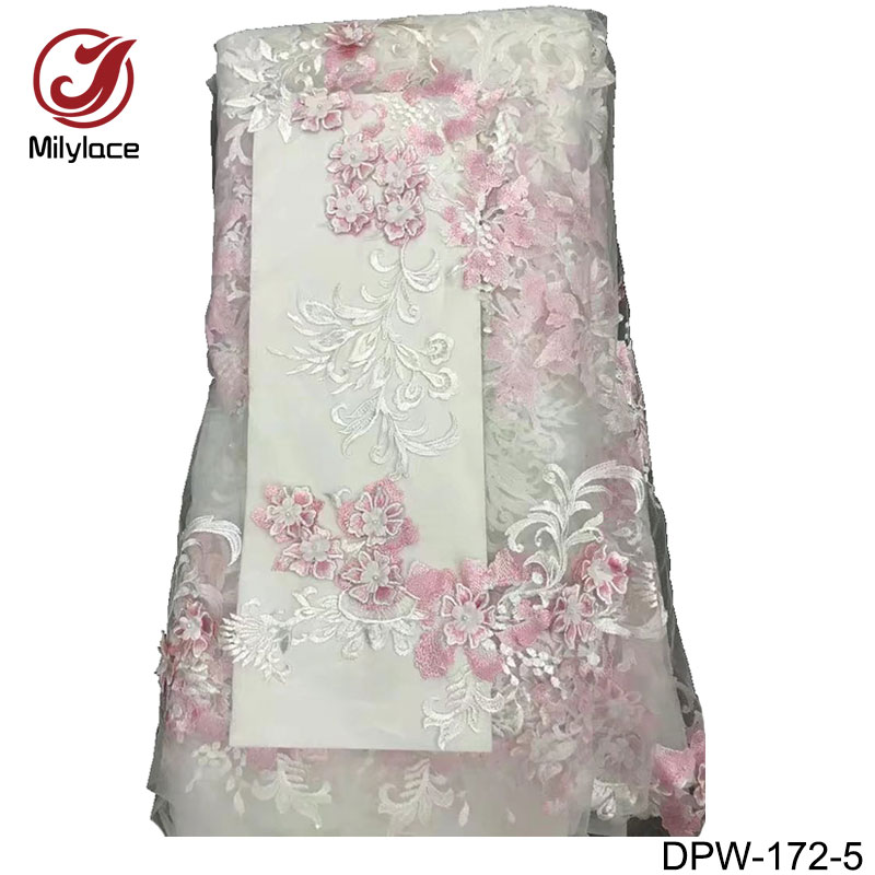 Apparel Sewing & Fabric Home & Garden Fashion Style Dubai Lace Fabric 5 Yards Embroidery Net Mesh Lace High End Design French Lace Fabric For 5 Yards Per Lot Beaded Lace Dpt-129