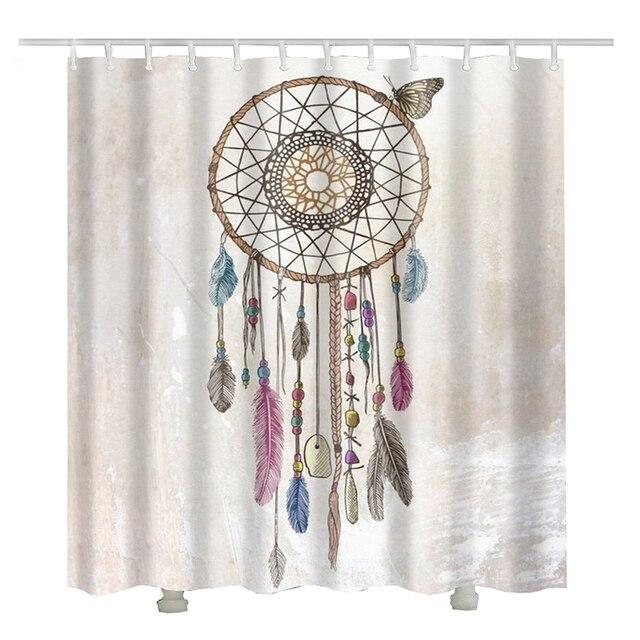 plume vent carillons indien rideau de douche rideau douche tissus