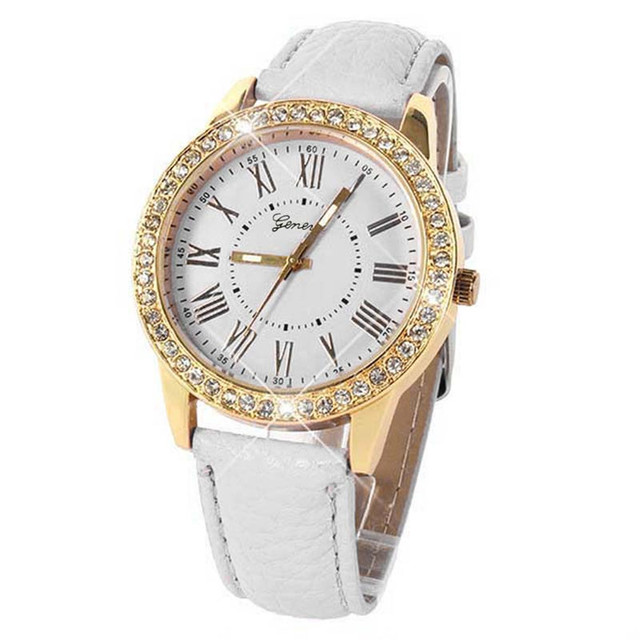 New 2018 Women Dress Watches Bling Gold Crystal Watch Luxury Casual Relogio Quar