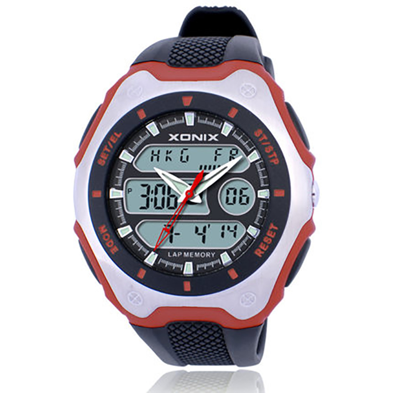 World time Multiple Time Zone watch men , 100 M waterproof Noctilucent digital watch , Analog Digital led quartz watch , relogio weide new men quartz casual watch army military sports watch waterproof back light men watches alarm clock multiple time zone