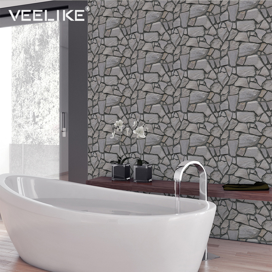 3D Wall Panel Self Adhesive Wallpaper For Living Room TV Background Bathroom Wall Papers Home Decor For Kitchen Backsplash Tiles
