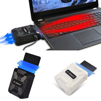 Mini Vacuum USB Laptop Cooler Air Extracting Exhaust Cooling Fan CPU Cooler For Notebook P4PM