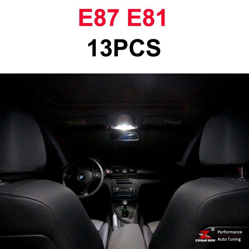 Идеальный ксеноновый белый Canbus без ошибок светодиодный купольная карта светильник комплект для BMW 1 серии E81 E87 E82 E88 F20 F21(2003 - Испускаемый цвет: 03-11 E81 E87(13PCS)
