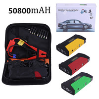 3 Colors 50800ma Multifunctional Portable Cars Auto Emergency Start Car Jump Starter Power Bank With Three