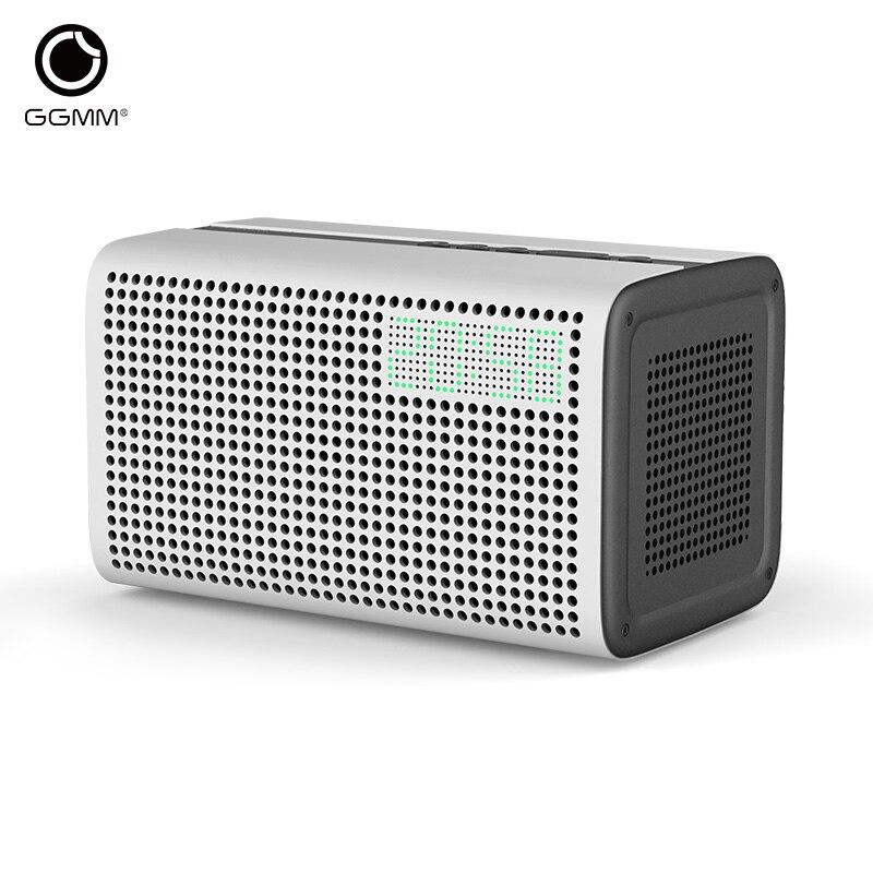 GGMM E3 Bluetooth Wireless FM Radio Speaker WiFi Sound System Digital Clock HiFi Subwoofer Speakers Music