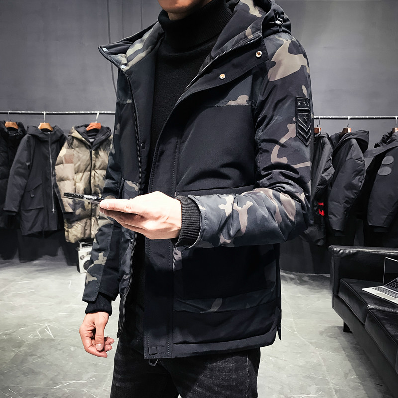 Camouflage Winter Jacket Men Thick Warm Mens Winter   Parkas   Slim Men's winter jackets coat Snow wear
