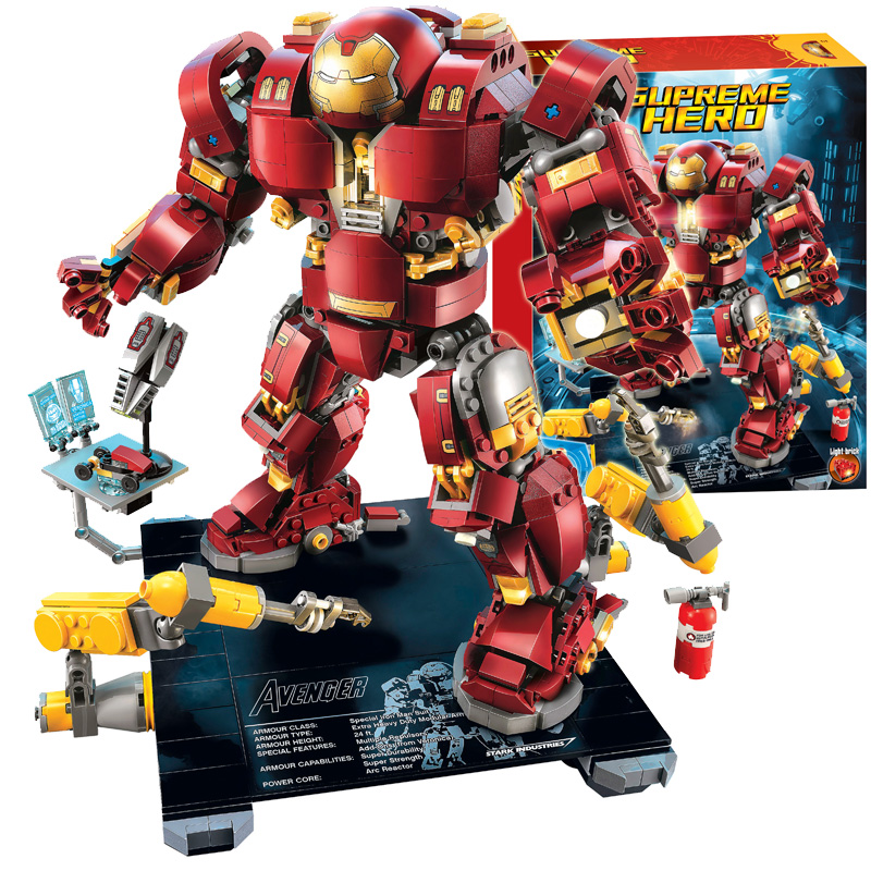 все цены на Bela Compatible Legoe Giftssle Hulkbuster Marvel Avengers Infinity War Ironman 76105 Super Hero Building Blocks Bricks Toys 2018 онлайн