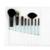 MSQ Marca Professional 8 pcs Pincéis de Maquiagem Conjunto de Alta Qualidade de Pêlo de Cabra Com Rosa/Branco/Preto de Couro PU caso Para A Beleza
