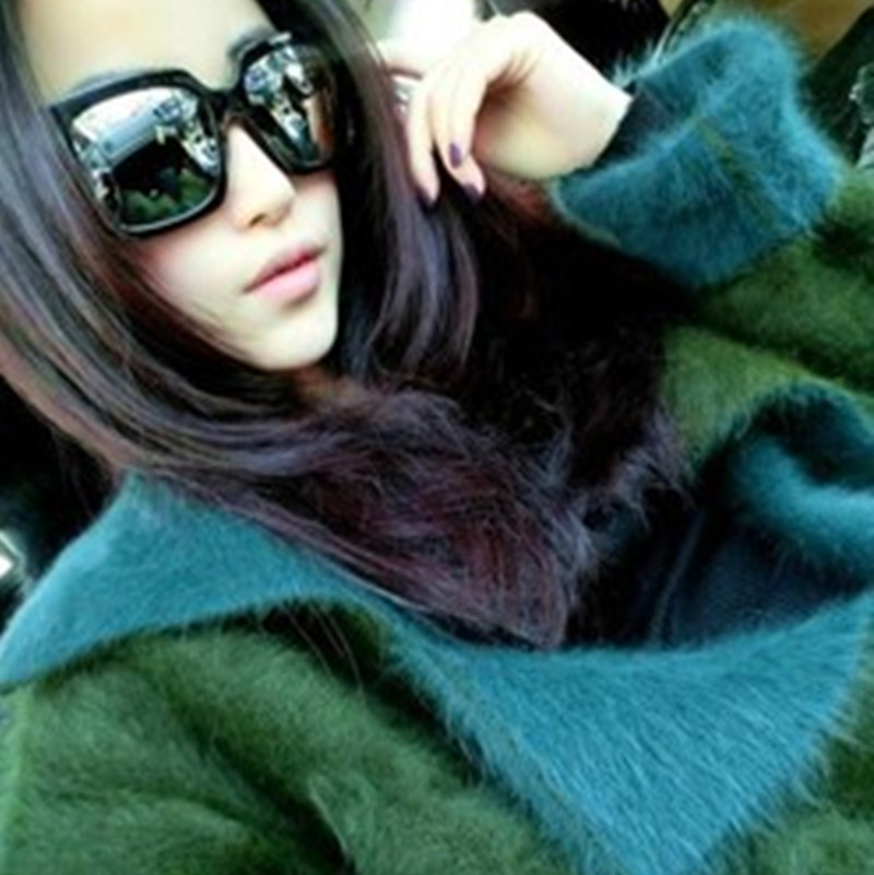 2016 double sided fleece sweater coat mink thickened long sleeved cardigan coat