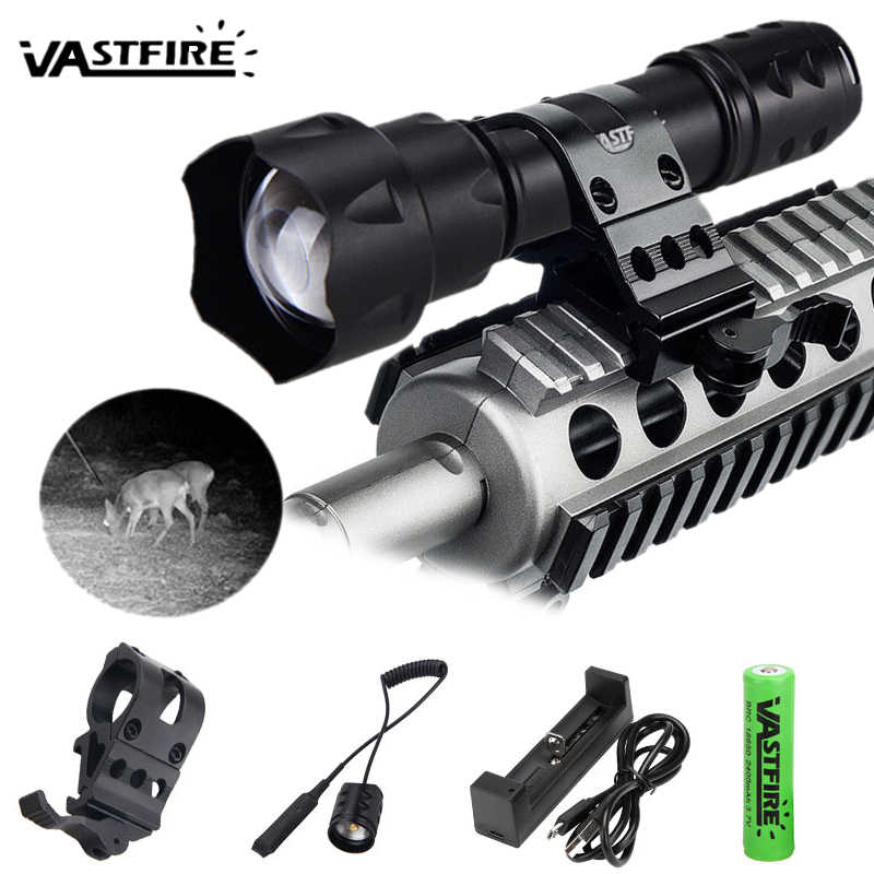 NEW 400 yards Zoomable Focus 7 Watt 850 nm LED Infrared Radiation IR Lamp Night Vision Flashlight Torch linterna