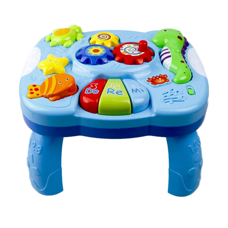 Toys Musical Learning Table Aquatic Creatures Music Activity Center Game Table Toddlers Infant Kids Toys For 1 2 3 Years