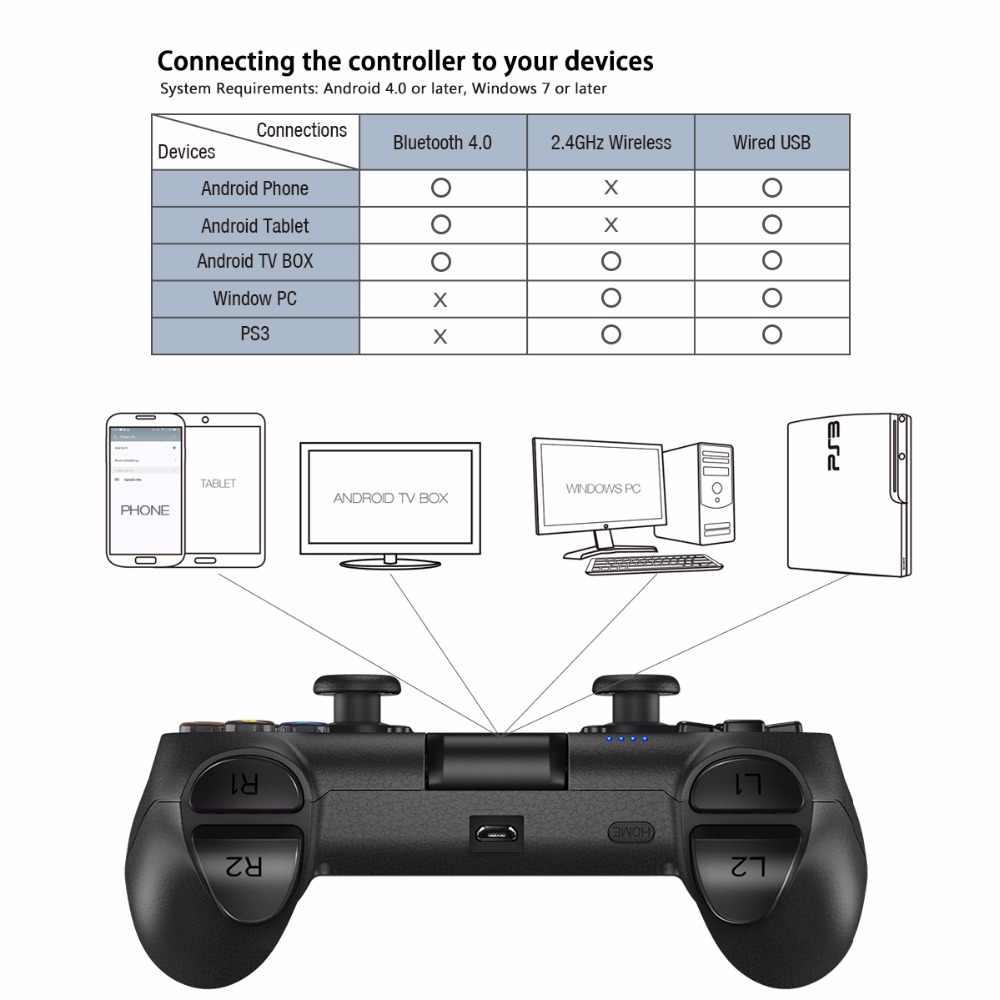 GameSir T1s Bluetooth Беспроводной джойстик для мобильного легенда, Aov, если вам понравилась эта игра повторять, Android/Windows/Очки виртуальной реальности VR/ТВ коробка/PS3