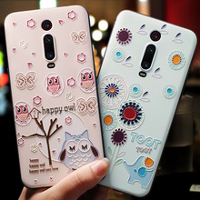 K20PRO 9T PRO Graffiti cartoon owl rabbit hippo lion Elephant painting embossed Relief case For Xiaomi Redmi K20 cover
