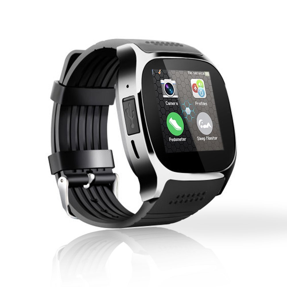 Smart Watch 4G GPS Camera SIM TF Fitness Tracker Smartwatch Waterproof Heart Rate Monitor Wear Android IOS Smartphone Black T8M