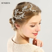 Beautiful Glass Pearls Bridal Headband Hand made Gold Silver Headpiece Wedding Accessories SQ0161