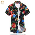 Large Size Floral Chemise Homme 6XL 5XL Brand Clothing 10Color Cotton Camisa Masculina Short Sleeve Hawaii Men Shirt 2017 New