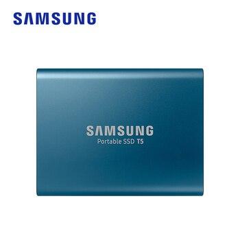 Unidad de disco duro ssd portátil samsung T5, 1tb, 2TB, 500GB, 250GB, unidad de estado sólido externa, USB 3,1 Gen2 y retrocompatible con PC