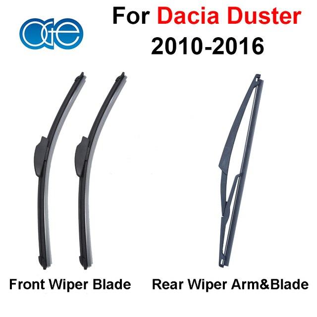Combo de Silicona Caucho Delantero Y Trasero Limpiaparabrisas Para Dacia Duster 2010-2016 Limpiaparabrisas Mejores Accesorios de Automóviles