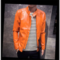 Men's large size slim Motorcycle jackets Hip-hop style Leather & Suede New fashion male Solid leather jacket outwear coats