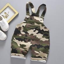 Повседневная летняя одежда для маленьких мальчиков и девочек; Roupas; камуфляжная одежда в полоску для малышей; Детские хлопковые комбинезоны; шорты; Pantalones От 1 до 4 лет